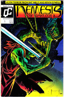 Nemesis the Warlock #1 (1989 Series) , 1st Print , 2000AD , Quality Comics , F+