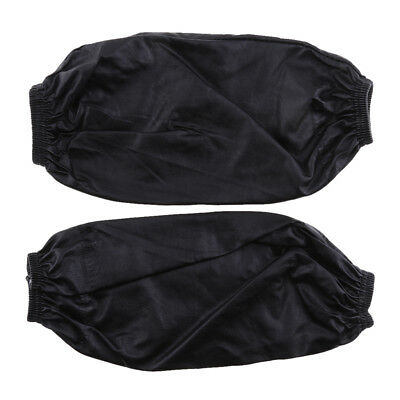 1 Pair of Black PU Leather Oversleeves Cuffs Easy to wash for Laboratory
