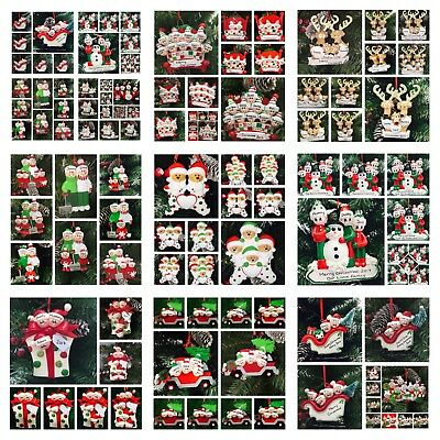 Personalised Christmas Tree Decoration / Ornament Assorted Families Plus Pets