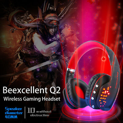 AU!Q2 Gaming Headset Beexcellent Wireless Bluetooth Gaming LED Headphone W/MIC