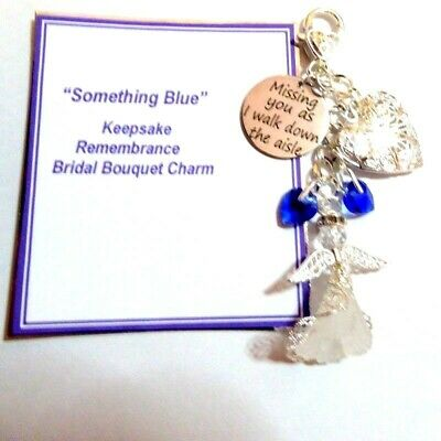 Missing You as I Walk Down the Aisle Something Blue Bridal Bouquet Remembrance