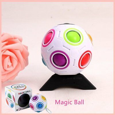 White Rainbow Magic Ball Fun Plastic Cube Twist Puzzle For Teenagers Adult BY