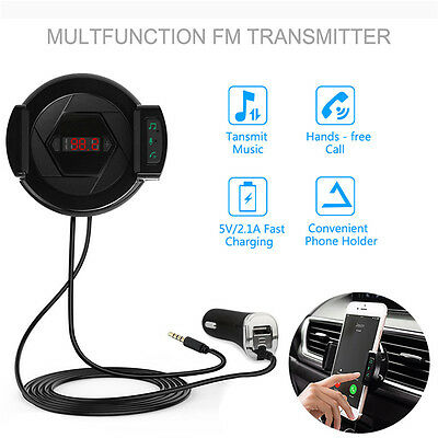 Handsfree Car Kit MP3 Music Player Wireless Bluetooth FM Transmitter USB Charger