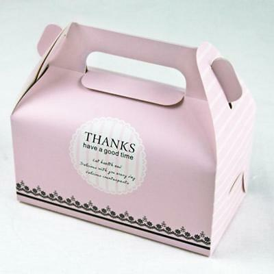 10pcs Paper Thanks Cake Boxes Container Gifts Boxes Wedding Party Favors