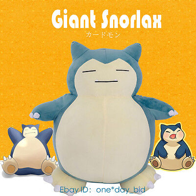 "New SELL 59""(150cm) Pokemon Huge Snorlax Plush Zipper Cover Doll Filled Bed Kids"
