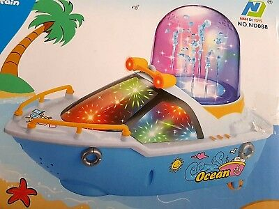 Happy SteamBoat Kids Toy Fountain Boat Lights Music Moveable Ship Pirates Game