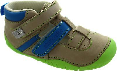Start Rite Atoll Baby Boy's Taupe Nubuck Leather Closed Toe Shoes New