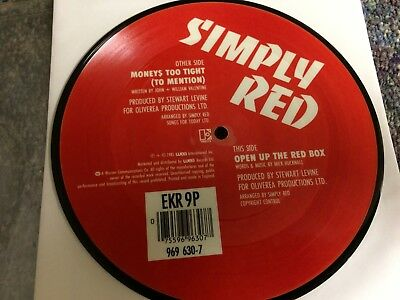 "Simply Red Moneys Too Tight To Mention 7"" Vinyl Picture Disc From Collection"