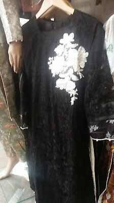 ***STITCHED Ladies Suit Pakistani/Indian Salwar Kameez BLACK***