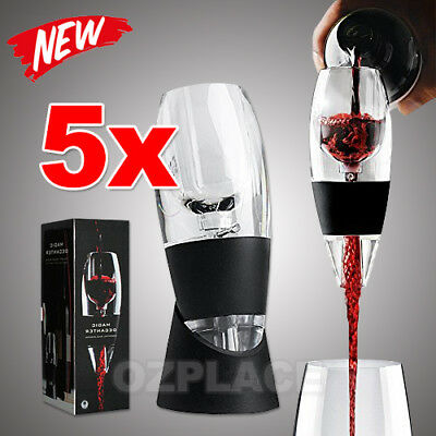 5X New Magic Decanter Essential Red Wine Aerator Sediment Filter Pouch