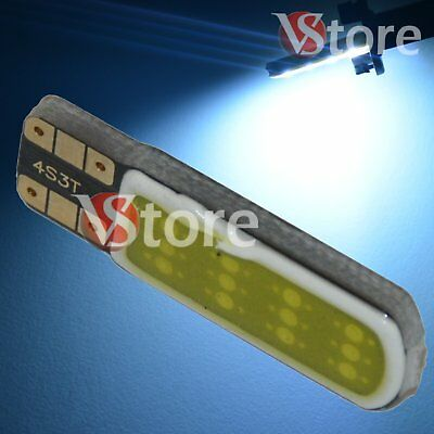 2 Led T10 Lampade Gel Silica 12 Chip COB No Errore Canbus BIANCO Interno Xenon