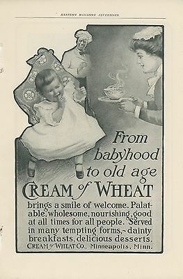 1903 Cream of Wheat Ad From Babyhood to Old Age Hot Cereal