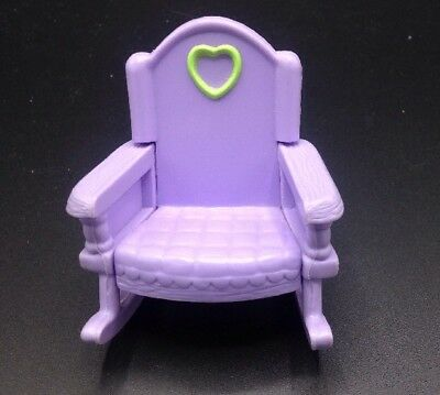 Fisher Price Loving Family - Purple with Green Heart Rocking Chair Kids Size