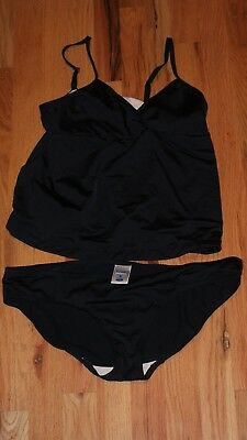 Old Navy Maternity 2 Piece Swim Suit Size Medium New Black