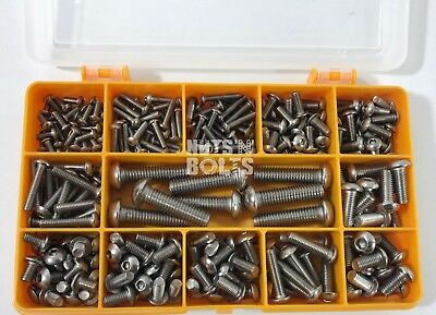243 Assorted Piece M3 M4 M5 M6 M8 Socket Button Head Screw Bolt Allen Key Kit