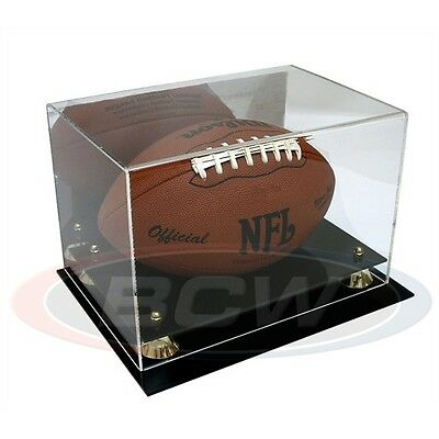 American Football Display Case with Mirror Back, Wall Mountable