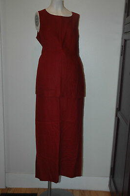 Mimi Maternity Red Skirt & Sleevless Shirt Set Size M Medium - Linen
