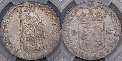 Netherlands, 1794 Gulden - PCGS MS63