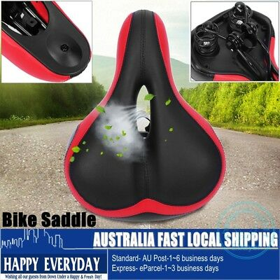 Wide Big Soft Hollow Saddle Seat Cushion MTB Bike Bicycle Cycling Outdoor Sport