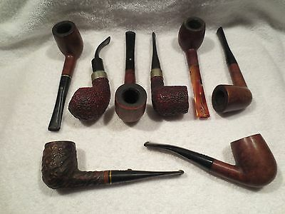 Lot of 8 Carey Magic Inch Estate Tobacco Pipes PRICE JUST REDUCED!