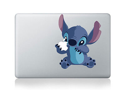 "MacBook 13"" Disney Stitch Apple Decal Sticker (pre-2016 MB Pro/Air only)"