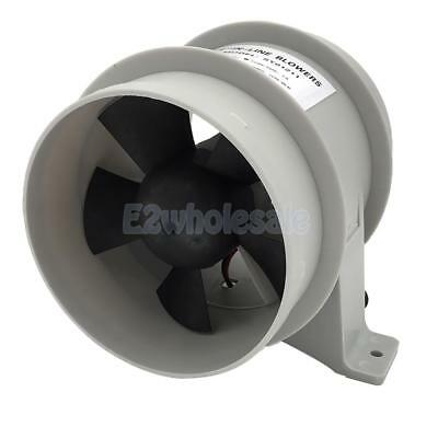 "Marine 4"" In-Line Bilge Turbo Blower 12 Volt Water Resistant White Suit Boat"