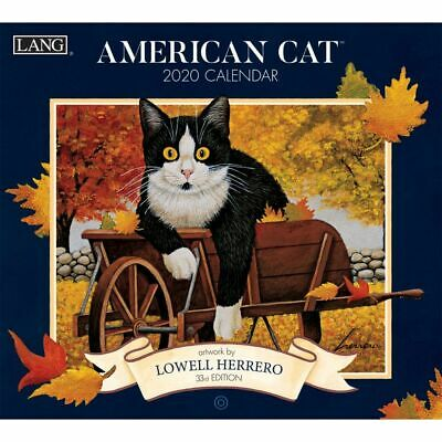 American Cat 2018 Lang Calendar By Lowell Herrero Color Packed Well Free Ship