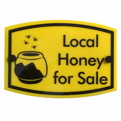 Bee Keeping Sign 'Local Honey for Sale' | water & weather proof | FREE SHIPPING