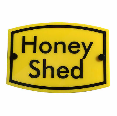 BEE KEEPING Warning Sign 'Honey Shed' | water & weather proof | FREE SHIPPING