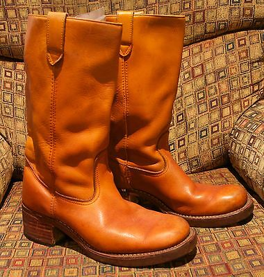 1970's Vintage Mens Leather Boots Size UK 11/US 11.5