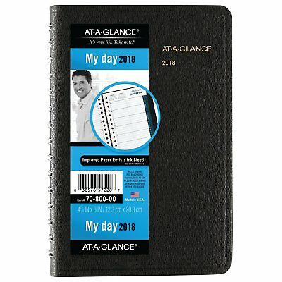 At-A-Glance 70-800-05 Daily Appointment Book With 15-minute Appointments, 8 X 4