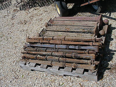 21 Antique Cast Iron Balusters,