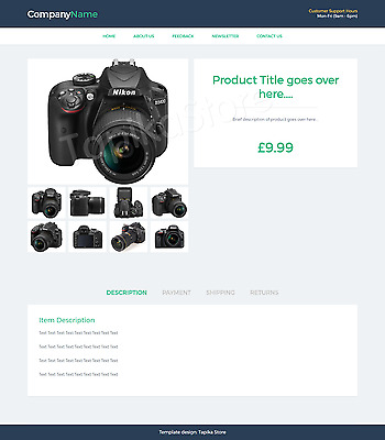 Template Ebay Listing Professional Mobile Responsive No Active Content Design