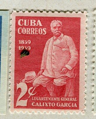 SPANISH CARIBBEAN;  1939 early Garcia issue Mint hinged 2c. value