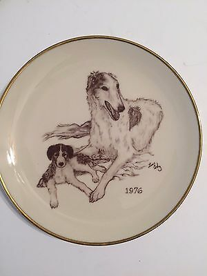 Borzoi Rare/Vintage 1976 Club of America Limited Edition Collectible Plate