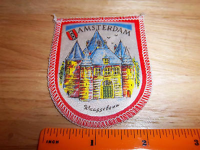 Amsterdam, The Netherlands, Holland beautiful woven style Patch, colorful castle