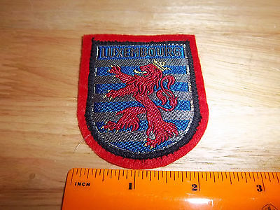 Luxembourg beautiful woven style Patch, colorful red lion coat of arms
