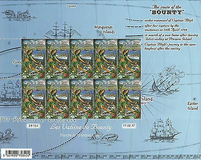 """route Of The Bounty"" French Polynesia-Pitcairn Sheet Mnh"