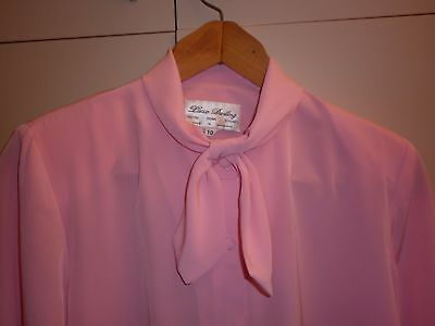Vintage Lucia Darling Pink Blouse Size 10 Excellent Condition