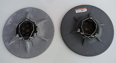 """16"""" Tennant T7 Scrubber Dryer Pad Driver Assembly, Set of 2 Drive Boards 379016"""