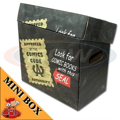 Comic Book Cardboard Storage Box Comics Code Authority Artwork, holds 125-140