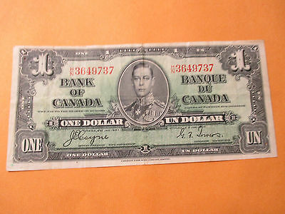 1937 $1 Bank Of Canada #2