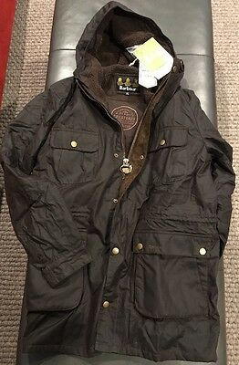 NWTs Barbour Men's Northolt Waxed Cotton Jacket. XXL (runs small)  Rustic ($549)