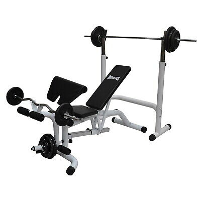Commercial Grade Multi Station Home Gym Weights Bench Press -  Fully Adjustable