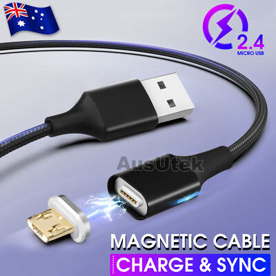Magnetic Braided Micro USB Charging Cable For Samsung Galaxy S6 S7 EDGE Android