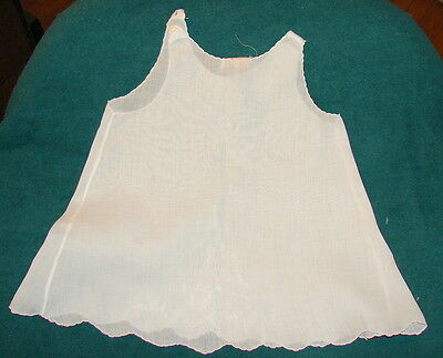 VTG Baby Slip White Cotton Lawn Handmade in Philippines