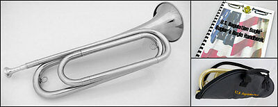 U.S. Regulation Bugle(tm) - Nickel Silver with Bag, Mouthpiece and Book