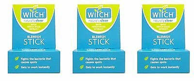 3 x Witch Blemish Stick Naturally Clear with Witch Hazel Extract 10g