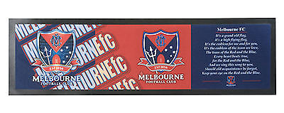Melbourne Demons AFL Club Song Printed Rubber Backed Bar Runner Mat New