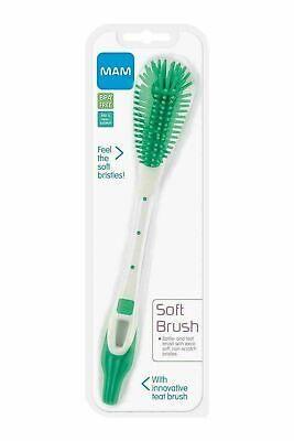 MAM Soft Bottle Brush With 100% Non-Scratch Bristles Baby Teat BPA Free